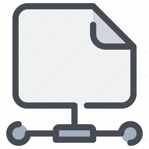 business, connect, data, document, file, network icon