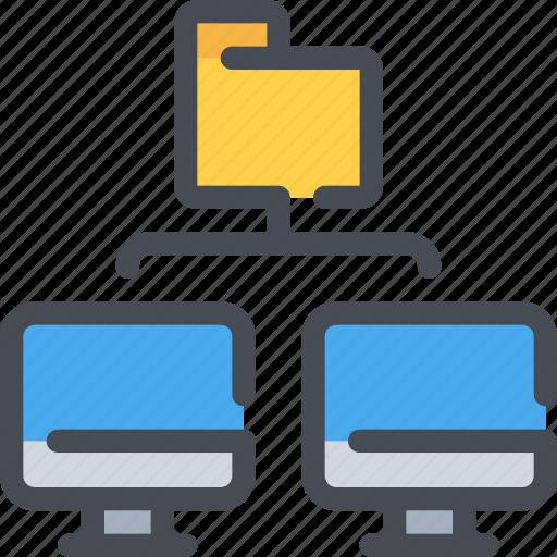 Computer, connect, database, file, folder, network icon - Download on Iconfinder