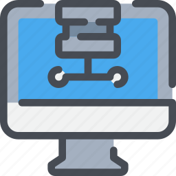computer, connect, database, network, server icon