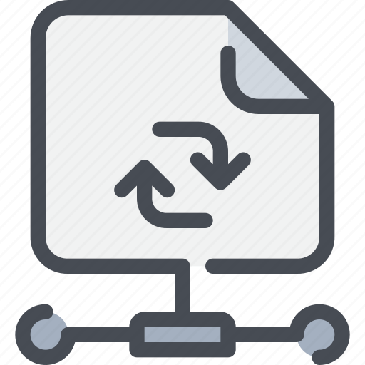 arrow, connect, database, document, file, network icon