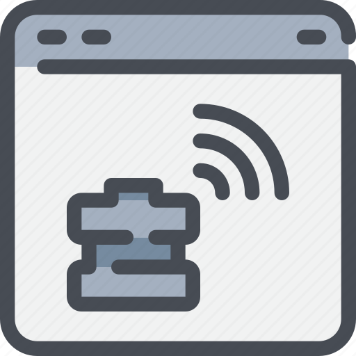 browser, connect, database, network, server icon