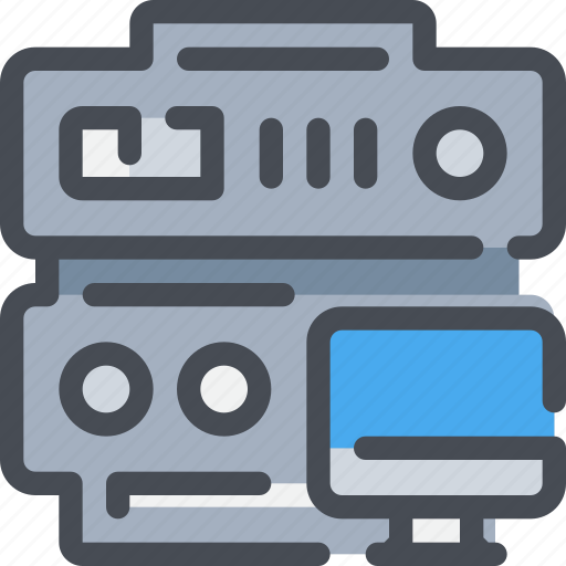 computer, connect, database, network, server, web icon