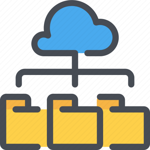 cloud, connect, database, file, folder, network icon