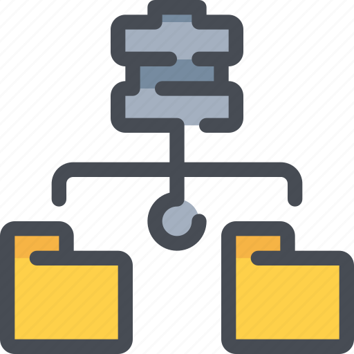 connect, database, file, folder, network, server icon