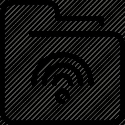 connect, data, file, folder, network, wifi icon