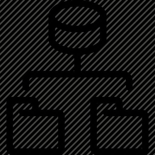 connect, data, database, file, folder, network icon