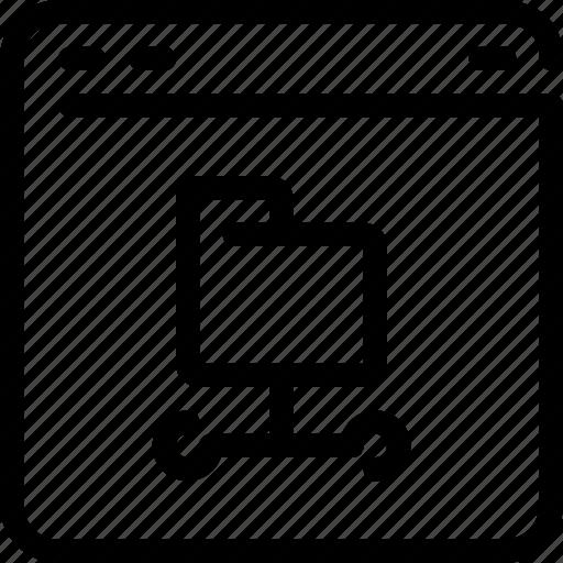 browser, data, database, file, folder, network icon