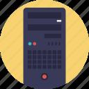 database, datacenter, hosting center, server, web hosting icon