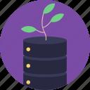 database network, networking, organic networking, server hosting, shared server icon