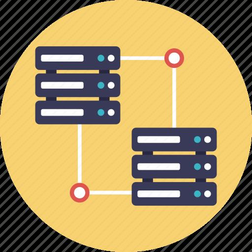 data center, data network, data sharing, information sharing, shared folder icon