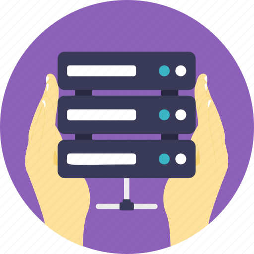 data controller, data management, data manager, database, server administrator icon