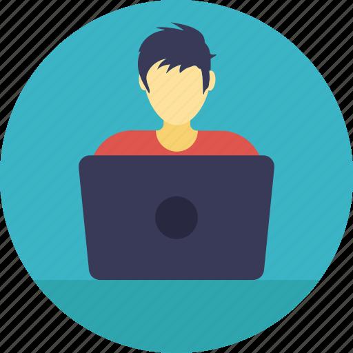 businessman, developer, entrepreneur, programmer, technologist icon