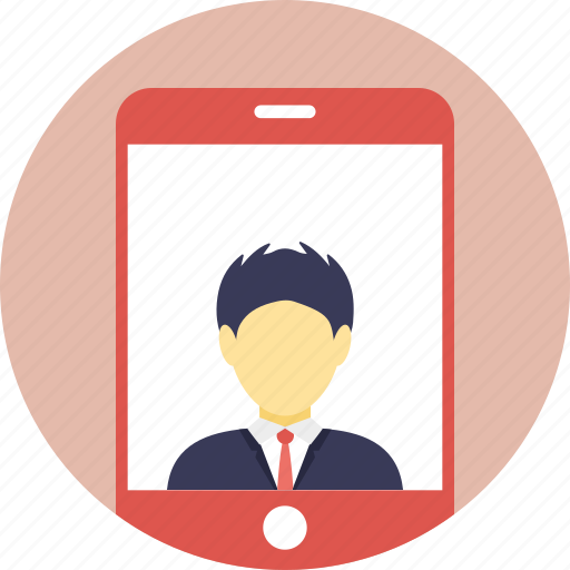 communication, live video, mobile profile, video call, video chat icon