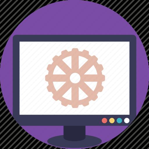 computer hardware, computer maintenance, computer settings, development, monitor display icon