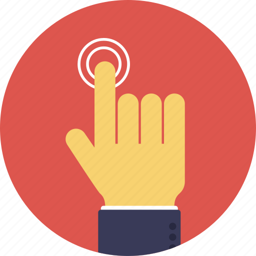 finger pointing, tap finger, touch gesture, touch scanner, troubleshooting icon