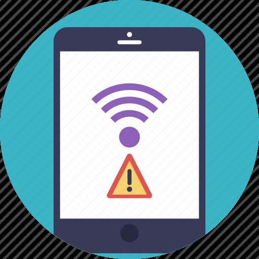 incorrect wifi password, mobile hotspot, no internet connection, wifi error, wireless connection icon