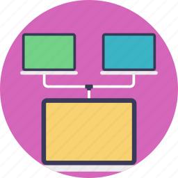 data sharing, internet connection, networking, server hosting, web server icon