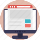web design, web layout, web template, website, wireframe icon