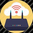 cloud computing, cloud network, icloud, internet modem, wifi cloud icon