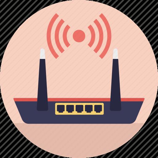 internet modem, internet router, wifi hotspot, wireless access point, wireless router icon