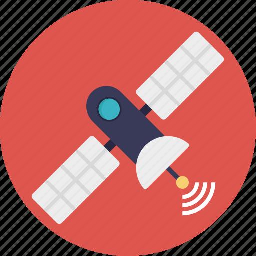 broadcasting, dish, gps satellite, radar, space science icon