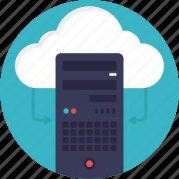cloud computing, cloud database, data center, decentralized cloud, distributed cloud icon