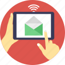 email advertising, email marketing, internet connection, online marketing, virtual mailbox icon