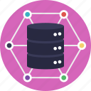 data center, data storage, data warehouse, database, server icon