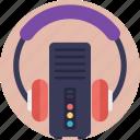 cyberspace, datacenter, media database, media server, music storage icon