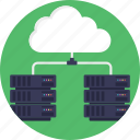 cloud computing, cloud database, data center, decentralized cloud, distributed cloud icon