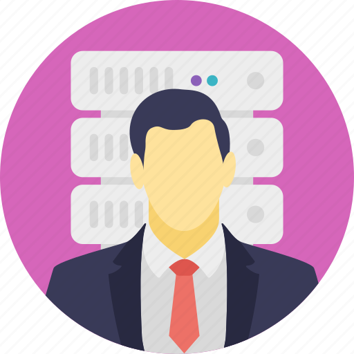 data controller, data management, data manager, developer, server administrator icon