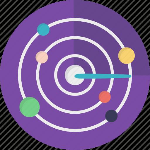 orbit, planet, solar system, space, universe icon