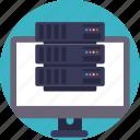 data sharing, internet connection, networking, server hosting, web server icon