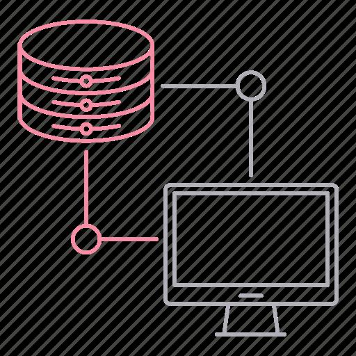 computer, data, database, hosting, network, server icon