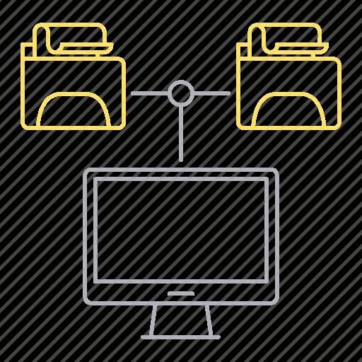 computer, data, database, files, server icon