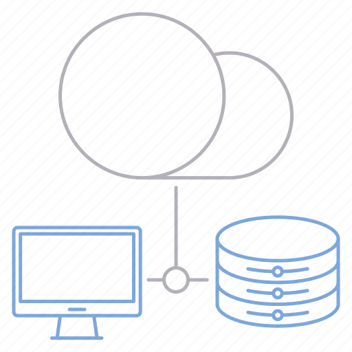 cloud, computer, database, server icon
