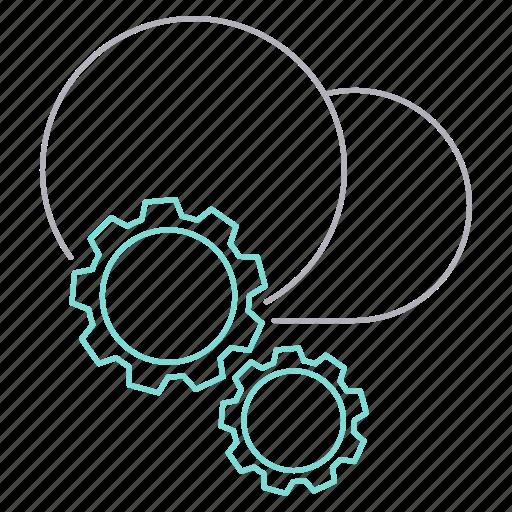 configuration, data, hosting, network icon