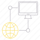 computer, data, database, hosting, network, server icon