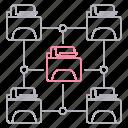 data, file, folders, hosting, network icon