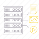 equipment, file, format, hosting icon