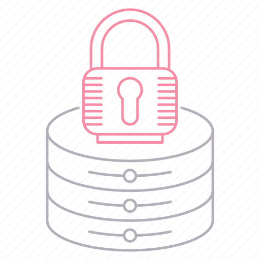 lock, protection, security, server icon