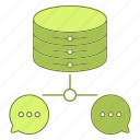 chat, data, database, hosting, infrastructure, network icon