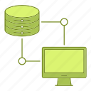 computer, data, database, hosting, infrastructure, network, server icon