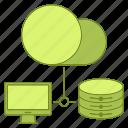 computer, data, database, hosting, infrastructure, network, server icon