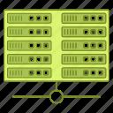 data, databank, database, server, storage, warehouse icon