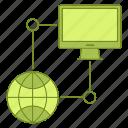 data, database, hosting, infrastructure, network, server icon