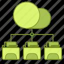 data, file, folder, hosting, infrastructure, network icon
