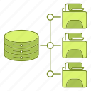 data, file, hosting, infrastructure, network icon