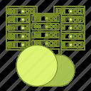 data, equipment, hosting, infrastructure, network icon