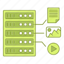 data, equipment, file, format, hosting, infrastructure, network icon